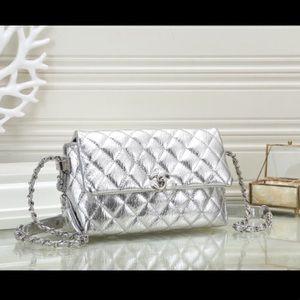 Chanel silver bag